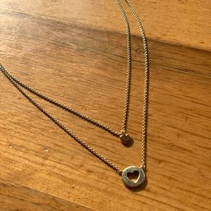 pandora two heart necklace!